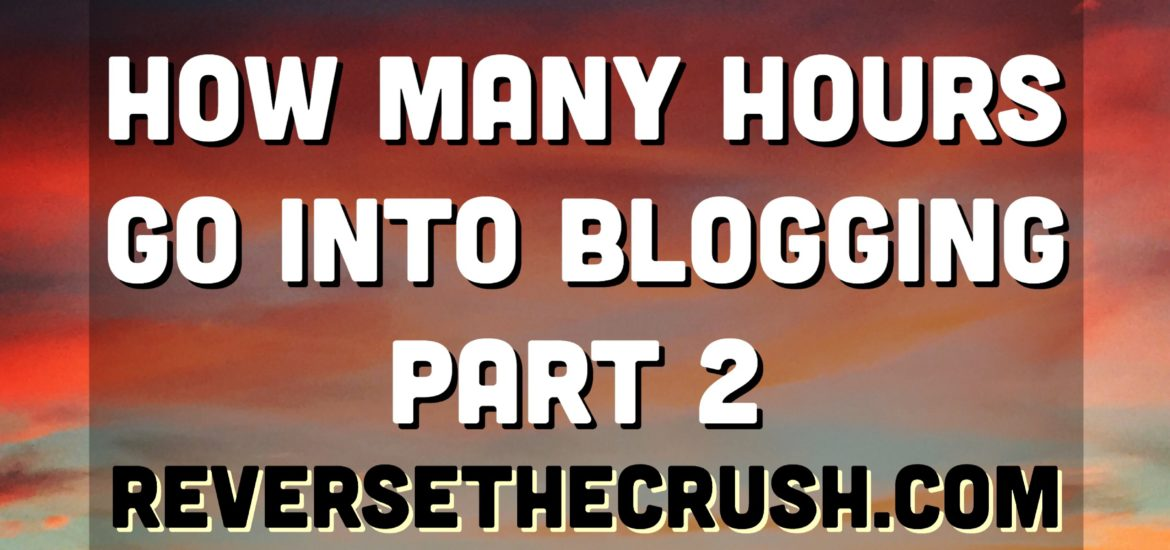 How Many Hours Go Into Blogging | Reverse The Crush