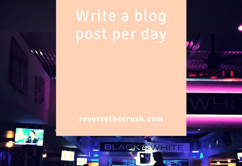 blog post per day